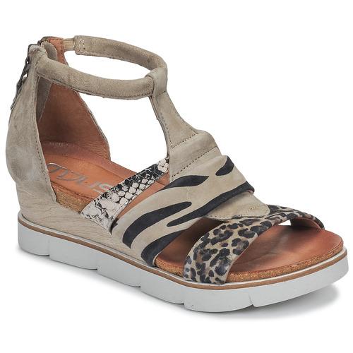 Chaussures Femme Sandales et Nu-pieds Mjus TAPASITA Taupe / Léopard