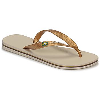 Chaussures Femme Tongs Ipanema CLAS BRASIL II Beige / Doré