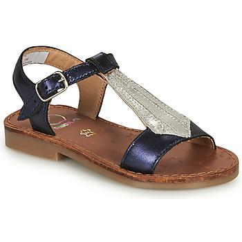 Chaussures Fille Sandales et Nu-pieds Shoo Pom HAPPY TIE Bleu / Argenté