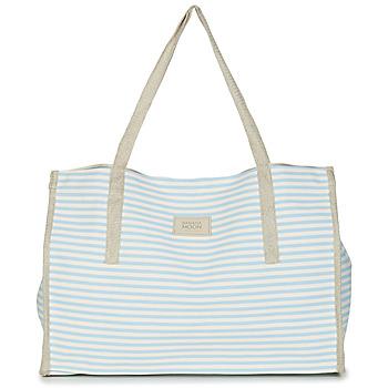 Sacs Femme Cabas / Sacs shopping Banana Moon ZENON WELINGTON Blanc / Bleu