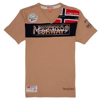 Vêtements Garçon T-shirts manches courtes Geographical Norway JIDNEY Beige