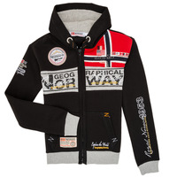 Vêtements Garçon Sweats Geographical Norway FLYER Noir