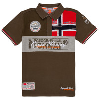 Vêtements Garçon Polos manches courtes Geographical Norway KIDNEY Kaki