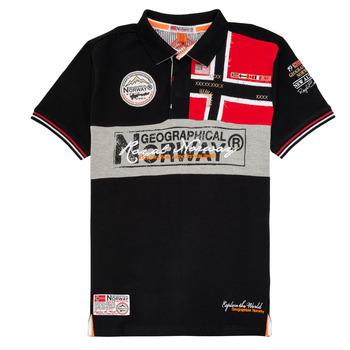 Vêtements Garçon Polos manches courtes Geographical Norway KIDNEY Noir