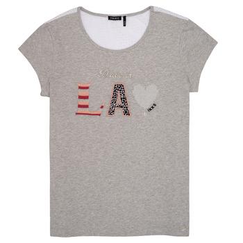 Vêtements Fille T-shirts manches courtes Ikks LILOUSH Gris