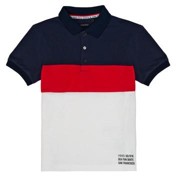 Vêtements Garçon Polos manches courtes Ikks LORIE Blanc