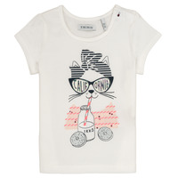 Vêtements Fille T-shirts manches courtes Ikks MEOLIA Blanc