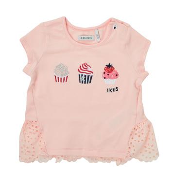 Vêtements Fille T-shirts manches courtes Ikks DANIA Rose