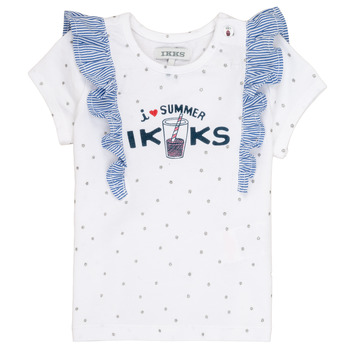 Vêtements Fille T-shirts manches courtes Ikks HILONA Blanc
