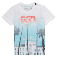 Vêtements Garçon T-shirts manches courtes Ikks JOSIANE Blanc