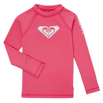 Sous-vêtements Fille Maillots de corps Roxy WHOLE HEARTED SS PINK FLAMBE