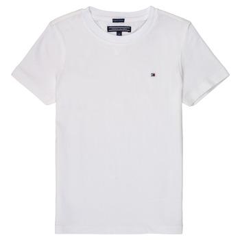 Vêtements Garçon T-shirts manches courtes Tommy Hilfiger SORELA Blanc