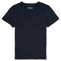Vêtements Garçon T-shirts manches courtes Tommy Hilfiger KB0KB04140 Marine