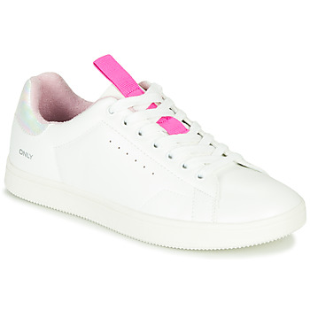 Chaussures Femme Baskets basses Only SHILO PU IRIDESCENT Blanc / Rose