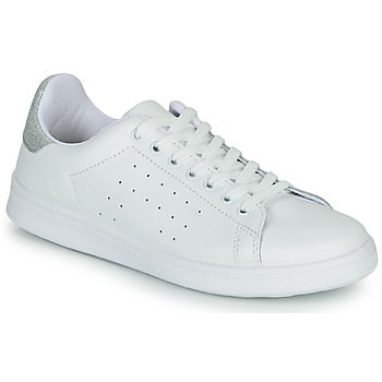 Chaussures Femme Baskets basses Yurban SATURNA Blanc/argenté