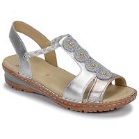 Chaussures Femme Sandales et Nu-pieds Ara HAWAII Blanc / Argenté
