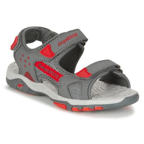 Chaussures Garçon Sandales et Nu-pieds Kangaroos K-CELTIC Gris / Orange