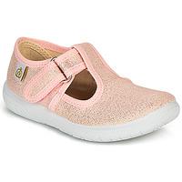 Chaussures Fille Ballerines / babies Citrouille et Compagnie MATITO Rose métallisé