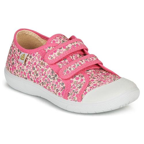 Chaussures Fille Baskets basses Citrouille et Compagnie GLASSIA Rose / Multicolore
