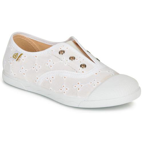 Chaussures Fille Baskets basses Citrouille et Compagnie RIVIALELLE Blanc