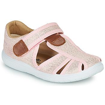 Chaussures Fille Sandales et Nu-pieds Citrouille et Compagnie GUNCAL Rose métallisé