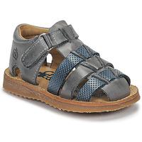 Chaussures Garçon Sandales et Nu-pieds Citrouille et Compagnie MISTIGRI Gris/ Bleu