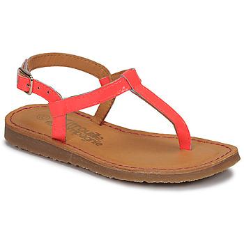 Chaussures Fille Tongs Citrouille et Compagnie MIZZA Rose fluo