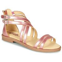 Chaussures Fille Sandales et Nu-pieds Citrouille et Compagnie IMOURAT Rose gold