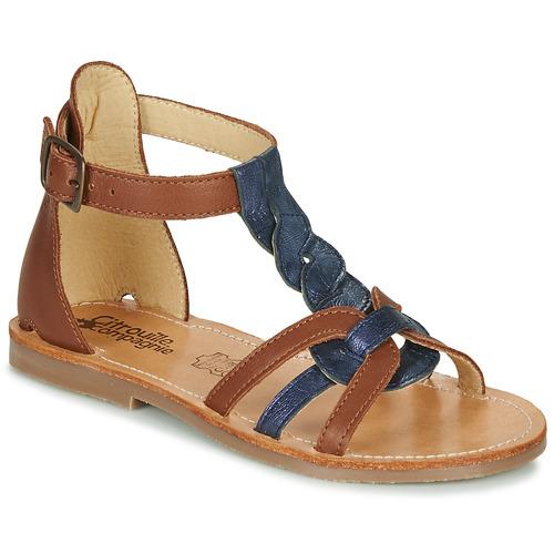Chaussures Fille Sandales et Nu-pieds Citrouille et Compagnie GITANOLO Marine / camel
