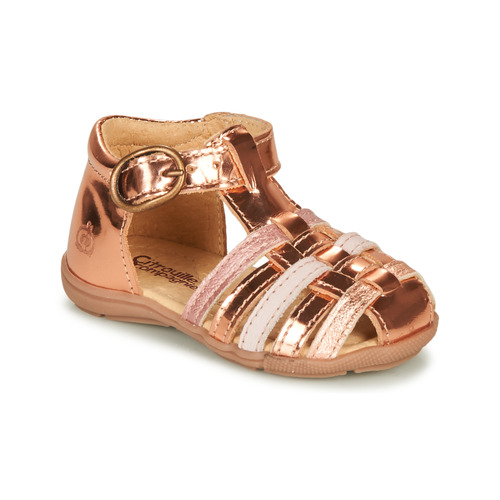 Chaussures Fille Sandales et Nu-pieds Citrouille et Compagnie RINE Rose métallisé