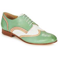 Chaussures Femme Derbies Melvin & Hamilton SALLY 15 Vert / Blanc / Beige