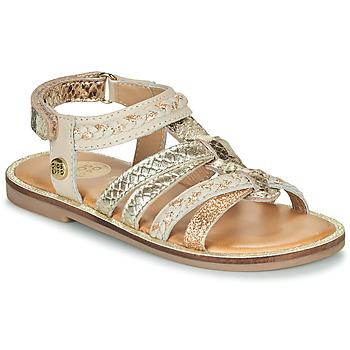 Chaussures Fille Sandales et Nu-pieds Gioseppo PIGNOLA Beige / Doré