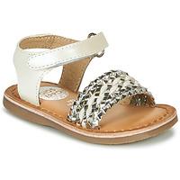 Chaussures Fille Sandales et Nu-pieds Gioseppo VARESE Blanc / Argenté