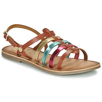 Chaussures Fille Sandales et Nu-pieds Gioseppo ETALLE Cognac / Multicolor