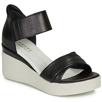 Chaussures Femme Sandales et Nu-pieds André HERMINIA Noir