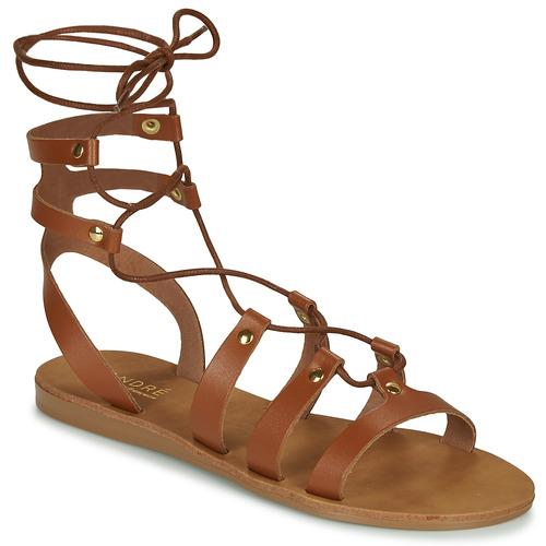Chaussures Femme Sandales et Nu-pieds André BEA Camel