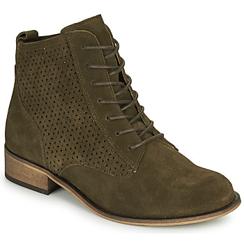 Chaussures Femme Boots André GODILLINE Kaki