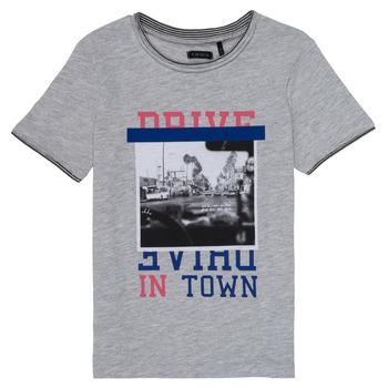 Vêtements Fille T-shirts manches courtes Ikks AMELIE Gris chiné