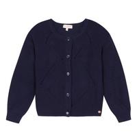 Vêtements Fille Gilets / Cardigans Lili Gaufrette MADINE Marine