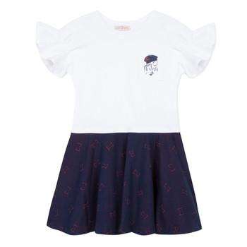 Vêtements Fille Robes courtes Lili Gaufrette MENDI Blanc
