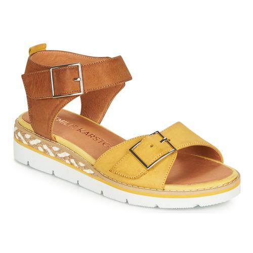 Chaussures Femme Sandales et Nu-pieds Karston KICHOU Jaune / Marron