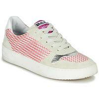 Chaussures Femme Baskets basses Meline GUILI Beige / rouge
