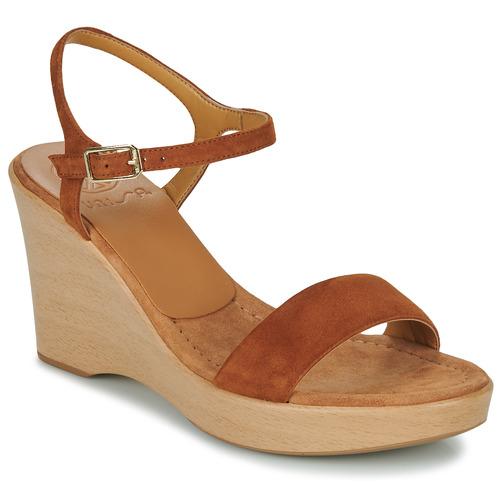 Chaussures Femme Sandales et Nu-pieds Unisa RITA Marron