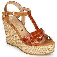 Chaussures Femme Sandales et Nu-pieds Unisa MACA Camel