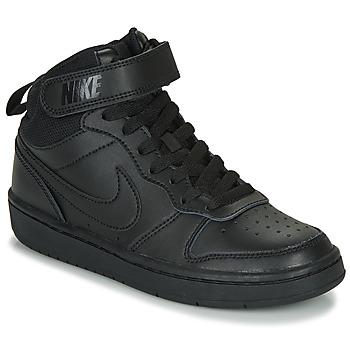 Chaussures Enfant Baskets basses Nike COURT BOROUGH MID 2 GS Noir