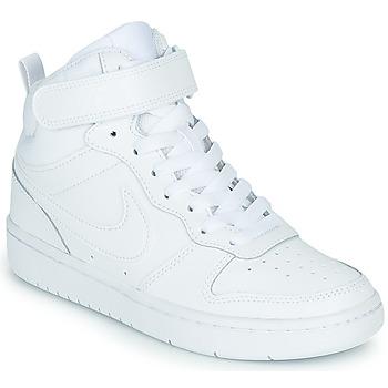 Chaussures Enfant Baskets montantes Nike COURT BOROUGH MID 2 GS Blanc