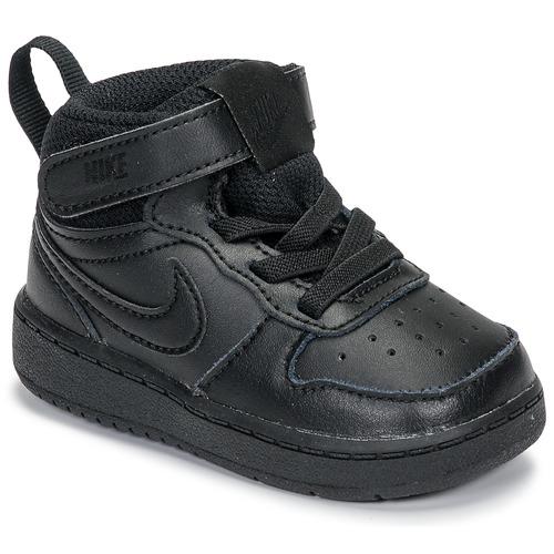 Chaussures Enfant Baskets basses Nike COURT BOROUGH MID 2 TD Noir
