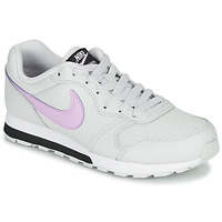 Chaussures Fille Baskets basses Nike MD RUNNER GS Blanc / Rose