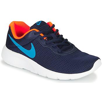 Chaussures Garçon Baskets basses Nike TANJUN GS Bleu