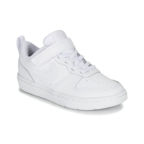 Chaussures Enfant Baskets basses Nike COURT BOROUGH LOW 2 PS Blanc